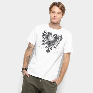 db102de6104e Camiseta Cavalera Manga Curta Estampada Masculino