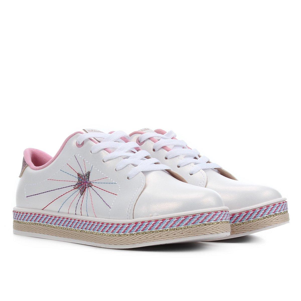 Sapato Infantil Molekinha Bordado Feminino