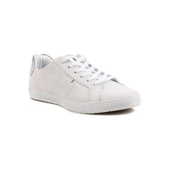 a0ae6193b2 Tênis Casual Feminino Kolosh Branco prata - Branco