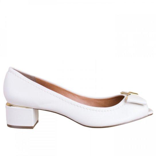 0bc35fb6c Sapato Peep Toe Luz da Lua S45015 - Branco   Zattini