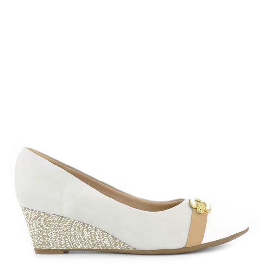 edca3cd690 Sapato Piccadilly Napa Gelo Branco Pele - Compre Agora