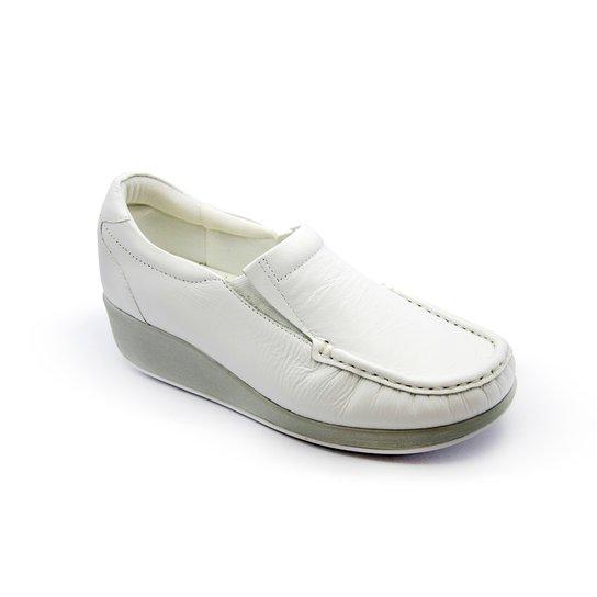 1421b8705d3 Tênis Anabela Couro Usaflex - Branco - Compre Agora