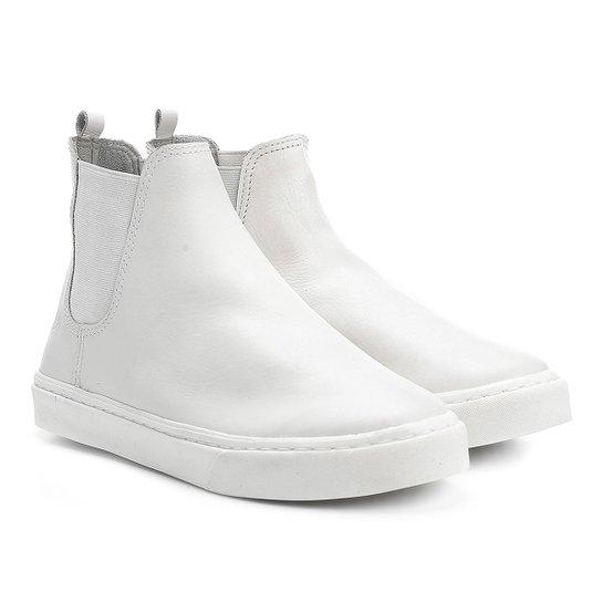 Bota Couro Chelsea Bottero Solado Branco Feminina - Compre Agora ... 2ff151d850a01