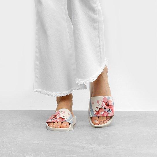 86e451ac66 Chinelo Moleca Slide Floral Feminino - Compre Agora