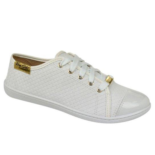 681f46ee475 Tênis Tressê Moleca Feminino - Branco - Compre Agora