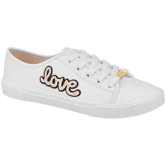 f4dd031b88 Tênis Moleca Love Feminino - Branco - Compre Agora