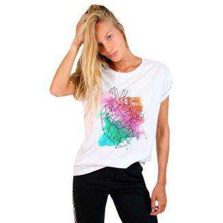 50e4a68a542ff Camiseta Joss Estampada Watercolor Heart Feminina
