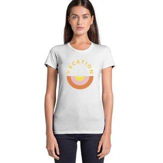 7a6196a60aa2c Camiseta Joss Feminina Estampada Vacation