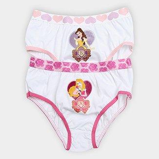 ced626c30 Calcinha Infantil Lupo Princesas Kit c  2 Unidades