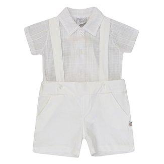 Conjunto Jardineira e Camisa Beth Bebê Davi c5c3d6e7f08ff