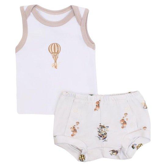 Conjunto Camiseta E Tapa Fralda - Compre Agora  2188be86656
