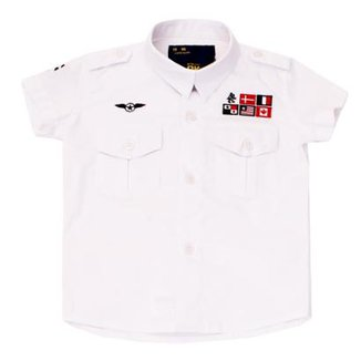 da05e9e30ba Camisa Military Paco Kids Manga Curta