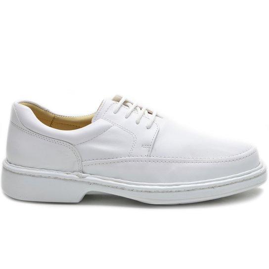 Sapato Conforto Cadarço Masculino - Branco - Compre Agora  6633ded1f8d5e