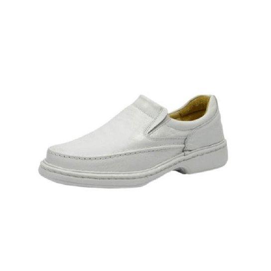 Sapato Casual Conforto Anti Estresse Galway Masculino - Branco ... 3799bb9efc3ae