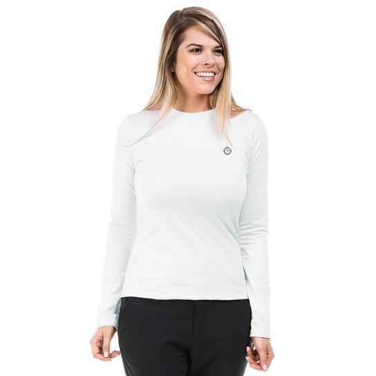 d7e6bf16f Camisa Térmica para Frio Manga Longa com Proteção Solar Extreme UV - Branco