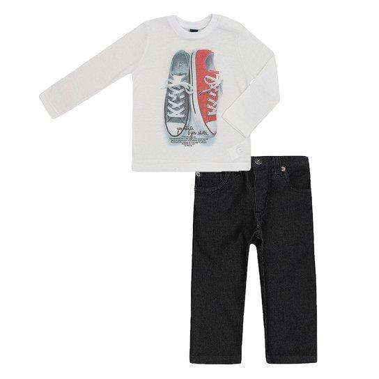 Conjunto Masculino Infantil Camiseta e Calça Jeans - Compre Agora ... 27ebe5282b5