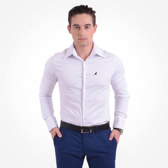 a34a067dc Camisa Social Masculina - Super Slim - Branco - Compre Agora
