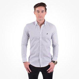 016f14da41 Camisa Social Masculina Slim Xadrez