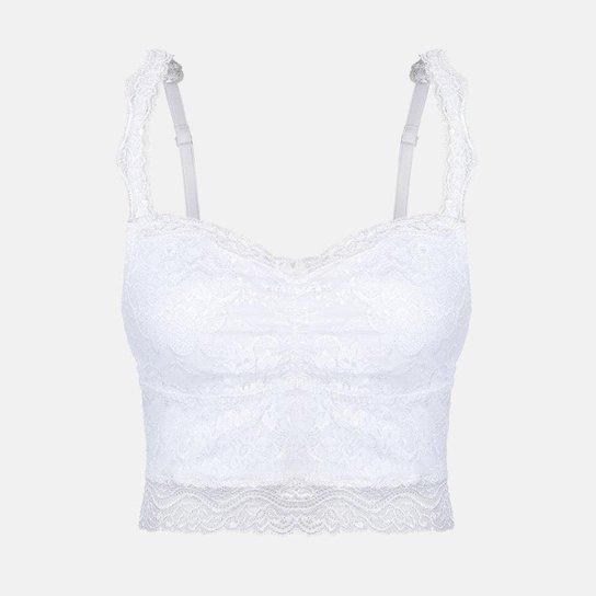 e8dda4145 Top Cropped Em Renda Perle Duloren - Branco