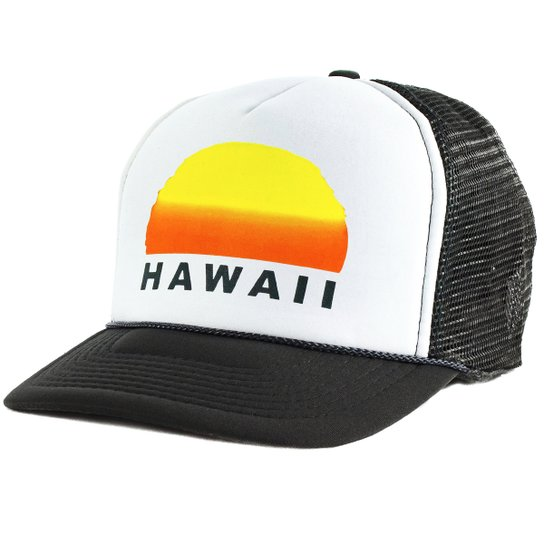 Boné Blanks Co Snap Back Sunset Hawaii Aba Curva - Branco - Compre ... 0fc4942cea0