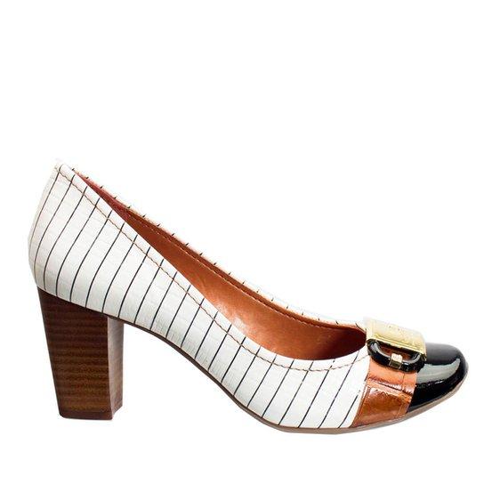 77a19df444 Sapato Feminino Jorge Bischoff Risca Giz Verniz J40121016 A01 - Branco