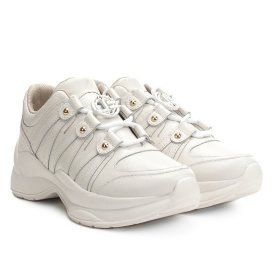 295138199d8 Tênis Couro Jorge Bischoff Glam Chunky Sneaker Feminino - Branco ...