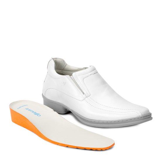 d19d73b5b9 Sapato Conforto Couro Rafarillo Soft Confort Alth - Branco