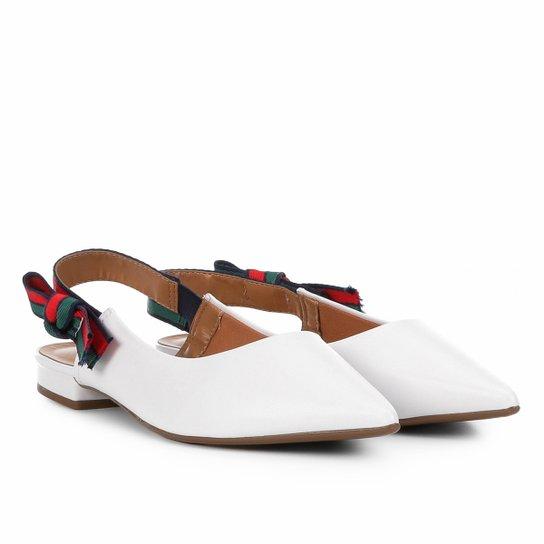 dedc498064 Sapatilha Vizzano Chanel Laço Lateral Feminina - Branco - Compre ...