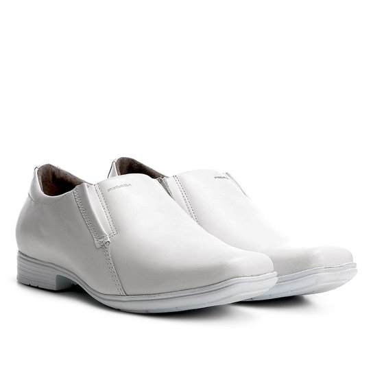 bf8a1d7287d Sapato Social Couro Pegada Sem Cadarço Masculino - Branco - Compre ...
