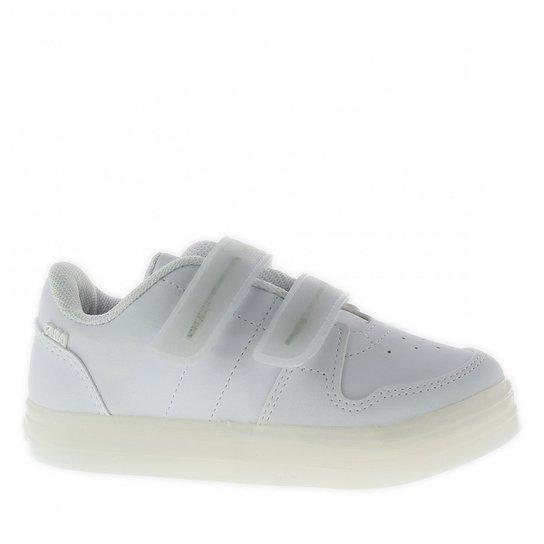 Tênis Klin New Led Recarregável Infantil - Branco - Compre Agora ... 3a8b637734d