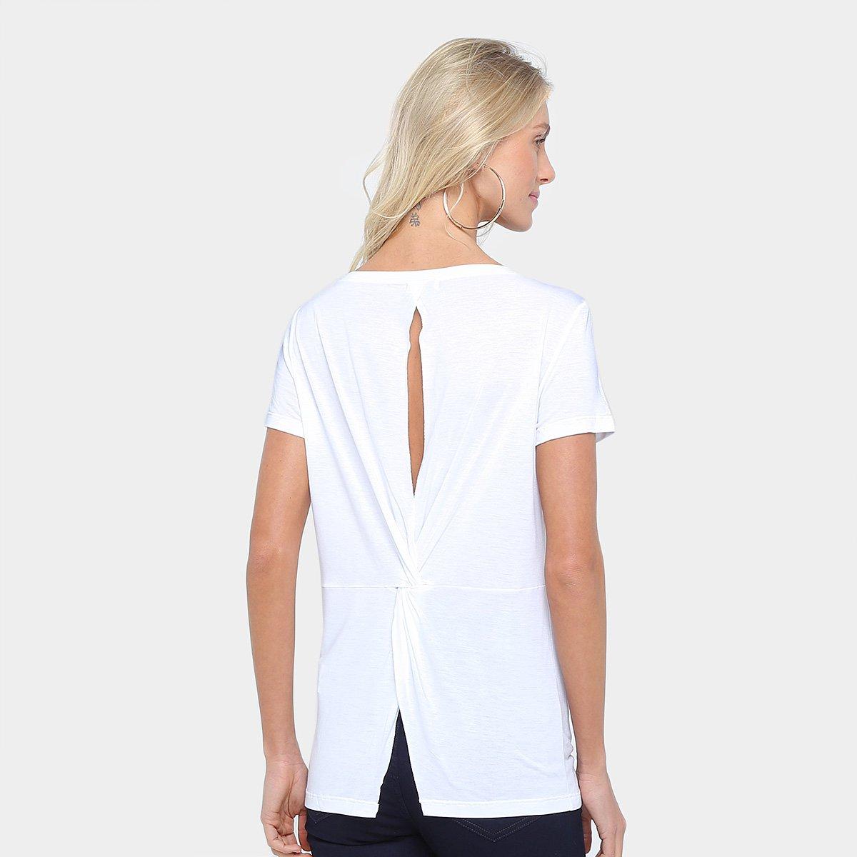 43b61b0de Camiseta Colcci Alongada Recorte Feminina | Livelo -Sua Vida com ...