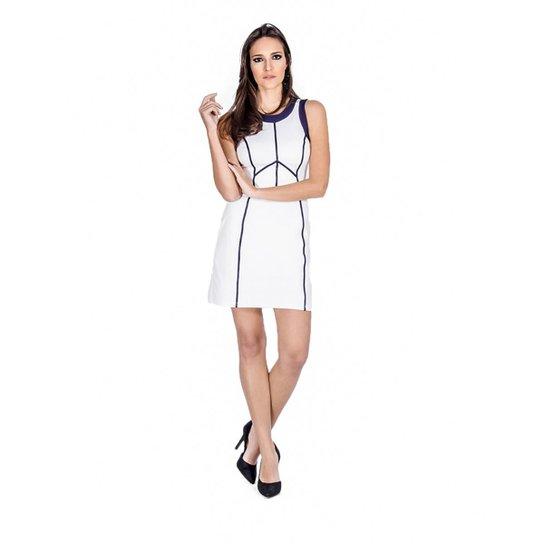Vestido Regata Viés Colcci - Branco - Compre Agora  7b6715cc31e