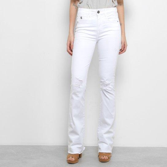 Calça Flare Forum Cintura Média Feminina - Branco - Compre Agora ... d5856430fea