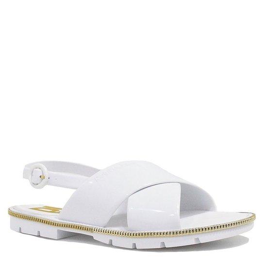 95780c4a5 Sandália Petite Jolie Rasteira Fivela - Branco - Compre Agora