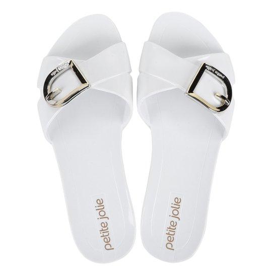 8c509c56b Chinelo Petite Jolie Tiras Cruzadas Flip Flop Express Feminino - Branco