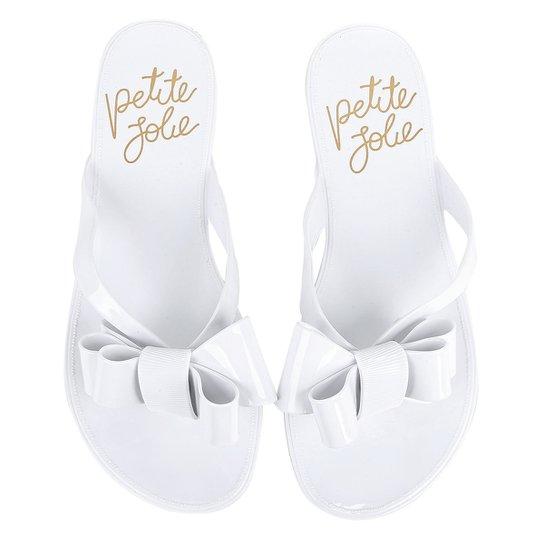 da49f2a29 Chinelo Petite Jolie Lucky com Laço Feminina - Branco - Compre Agora ...