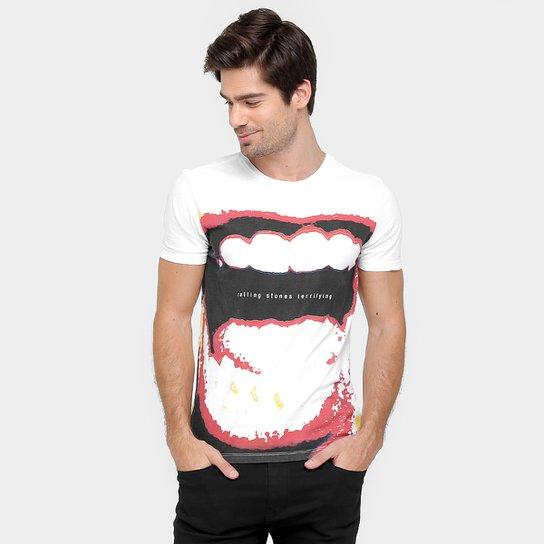 2f70de7194 Camiseta Ellus Rolling Stones Classic - Branco+Vermelho