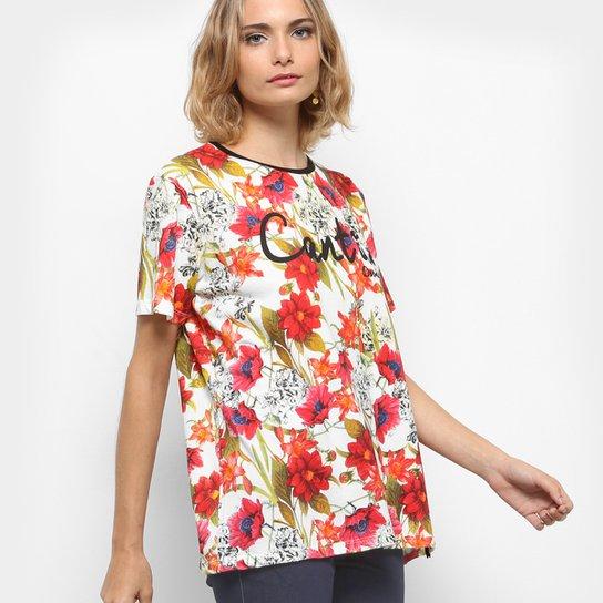 0f0056dbd3 Camiseta Cantão Estampa Floral Feminina - Compre Agora