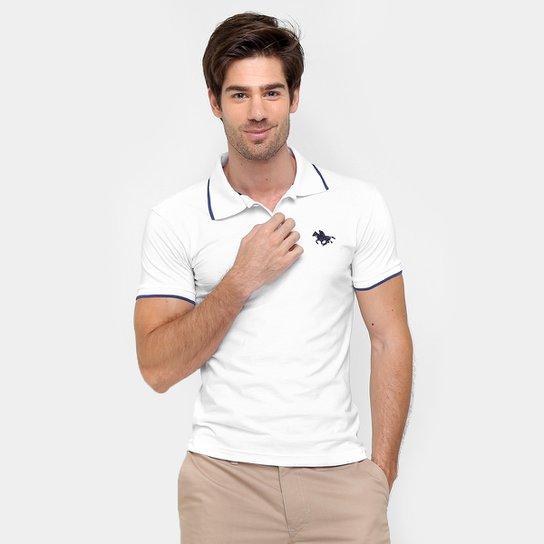 dfacd2855 Camisa Polo RG 518 Malha Friso Logo Masculina - Branco - Compre ...