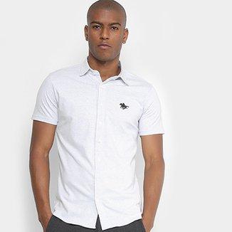 0d1afdae1a Camisa Manga Curta Polo RG 518 Pontilhada Logo Masculina