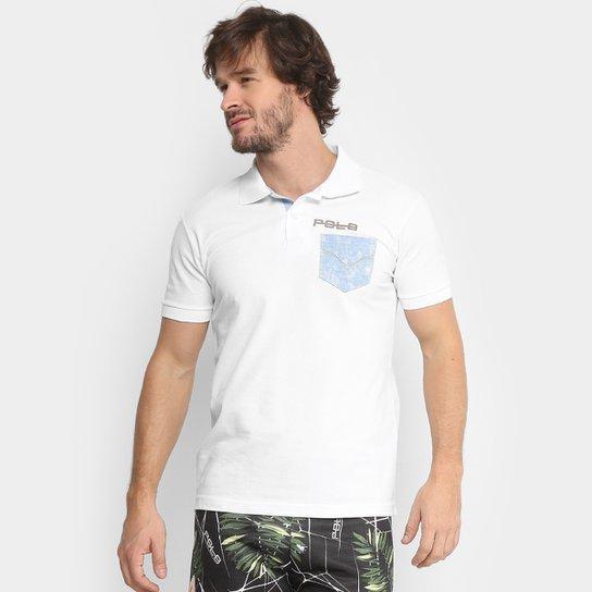 Camisa Polo RG 518 Piquet Bolso Jeans Masculina - Branco - Compre ... 924d431ef4b94