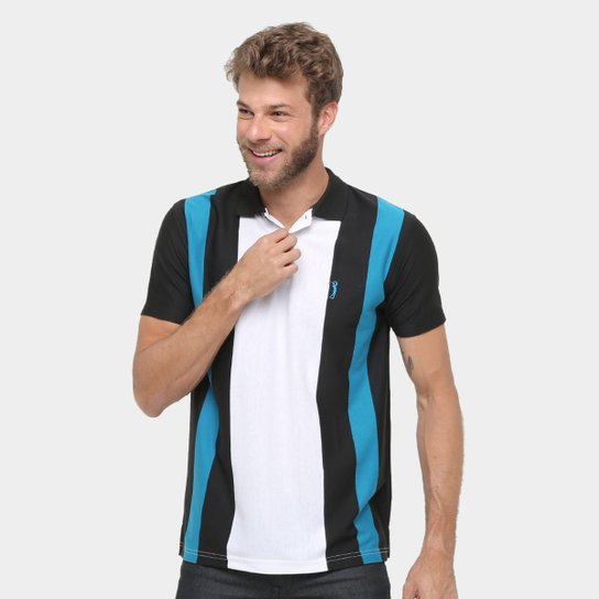 Camisa Polo Aleatory Listras Masculina - Compre Agora  b38c16a411381