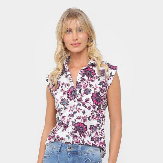 fae8d5999c Camisa Malwee Sem Manga Estampada Feminina - Compre Agora