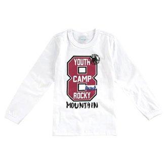 Camiseta Manga Longa Infantil 8 Malwee Masculina 0fc9ccb3ff38b
