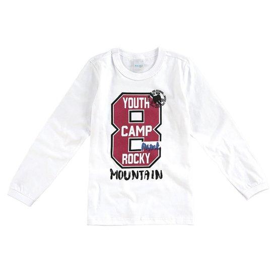 26e2a7041 Camiseta Manga Longa Infantil 8 Malwee Masculina - Compre Agora ...