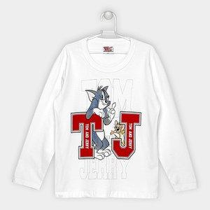 Camiseta Infantil Kamylus Tom e Jerry Manga Longa Masculina a2a57a9a01f28
