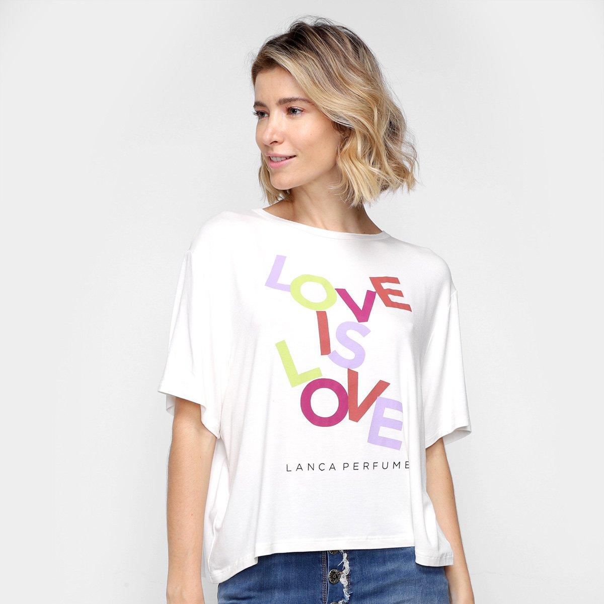 Camiseta Lança Perfume Love Is Love Feminina