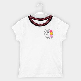 9f1488ae84 Blusa Fakini Infantil Unicórnio Pompom Feminina