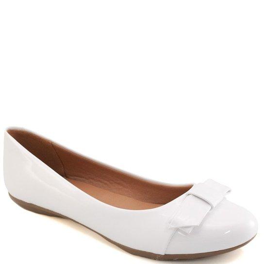 60fa6b5786 Sapatilha Laço Bico Redondo Sapato Show Feminina - Branco - Compre ...