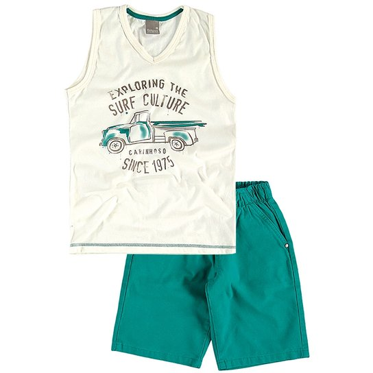 Conjunto Infantil Carinhoso Surf Masculino - Compre Agora  c3491f70f17